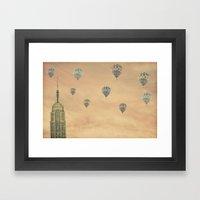 Balloons over the Empire Framed Art Print