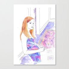 Elle Fanning, Somewhere Canvas Print