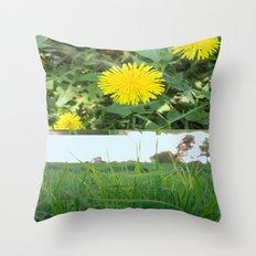 Grass Dandy Throw Pillow
