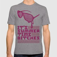 Summer Time. Mens Fitted Tee Athletic Grey SMALL