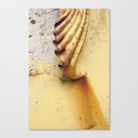 Yellow Push Canvas Print