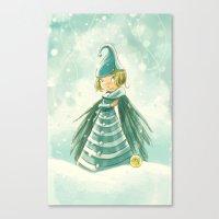 Goblins Drool, Fairies Rule! - Snowflake Shelly Canvas Print