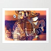 Choclo Y Salcedo En El O… Art Print