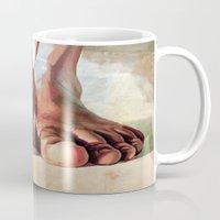 Pensando con los pies Mug