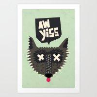 Happy Wolf Art Print