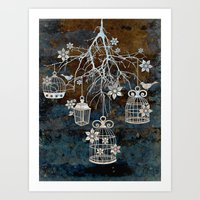 Bird Cage Chandelier Art Print