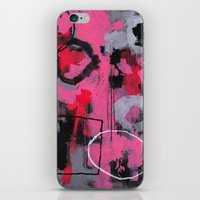 Abstract Painting - Rolling the Big Wheel iPhone & iPod Skin