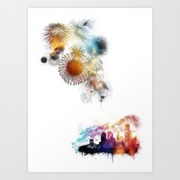 Timeless Explosions Art Print
