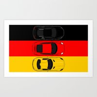 German Horsepower Art Print