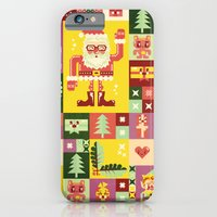 iPhone & iPod Case featuring Christmas Geometric Pattern No. 1 by chobopop