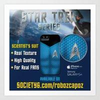 Star Trek Series - Scientist Suit Art Print