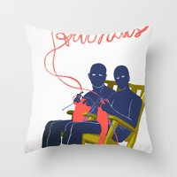 Adonais Throw Pillow