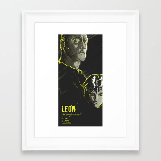 LEON: THE PROFESSIONAL Framed Art Print