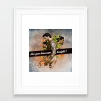 Are you lonesome tonight? Framed Art Print