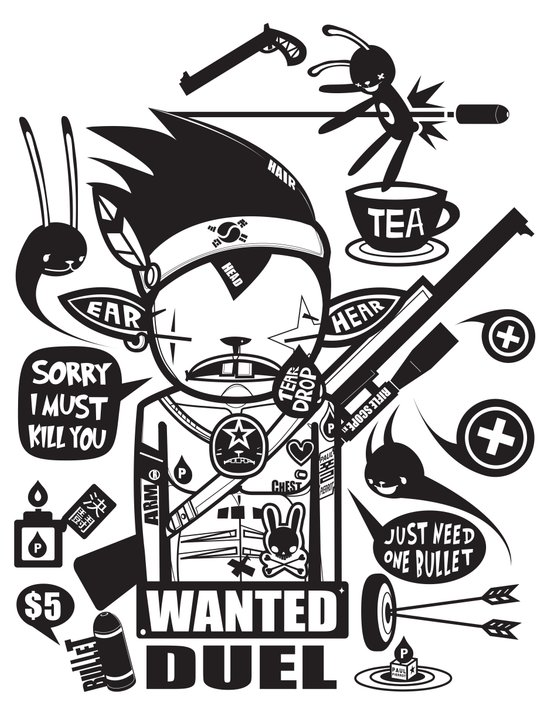 SORRY I MUST KILL YOU ! - DUEL Art Print