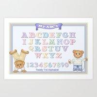 Teddy Bear Alphabet ABC'… Art Print
