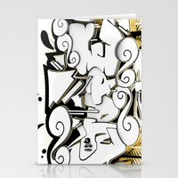 3D GRAFFITI - NOPE Stationery Cards