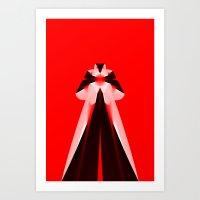 Red Icon Art Print