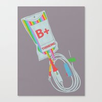 Be Positive Thinking Canvas Print