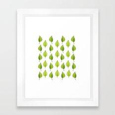 Little Lilac Leaf Framed Art Print