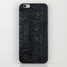 Black paper iPhone & iPod Skin