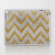 silver and gold chevron Laptop & iPad Skin