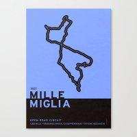 Legendary Races - 1927 Mille Miglia Canvas Print