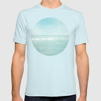 Majestic Sea Mens Fitted Tee Light Blue SMALL