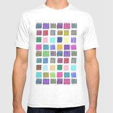 Marker Hash Mens Fitted Tee White SMALL