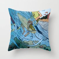 The Contest Throw Pillow