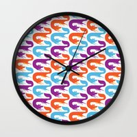 Chasing tails Wall Clock