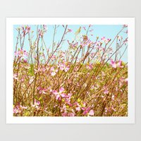 Fort Brag Flowers I Art Print