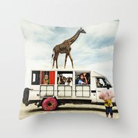I Dreamed A Safari  Throw Pillow