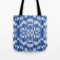 Ikat: Nautical Blue  Tote Bag