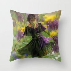 Flower Fairies Throw Pillow