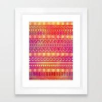Inspired Aztec Pattern Framed Art Print