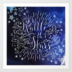 Rattle The Stars - Blue Art Print