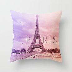 A Tribute To Paris  Throw Pillow