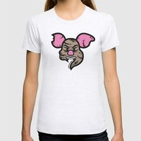Zombie Piglet Womens Fitted Tee Ash Grey SMALL
