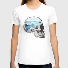 Brain Waves Womens Fitted Tee White SMALL