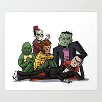 The Universal Monster Club Art Print