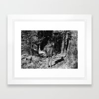 Girl in the Woods Framed Art Print
