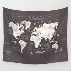 The World Map Wall Tapestry