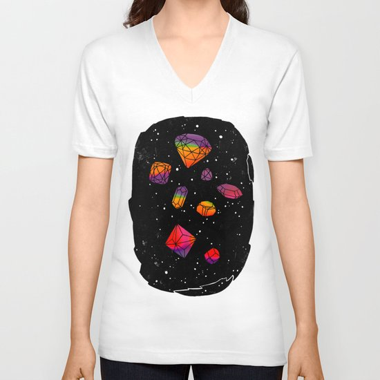 DIAMONDS IN THE SKY V-neck T-shirt