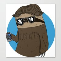 Slothster Canvas Print