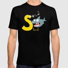 s for shark Black SMALL Mens Fitted Tee