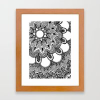 Black And White Doodle 2 Framed Art Print