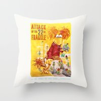 Attack of the 22 Inch Fraggle Throw Pillow