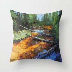 Gold Rush! Throw Pillow
