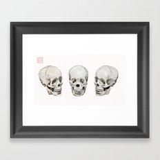 Three Skulls Framed Art Print